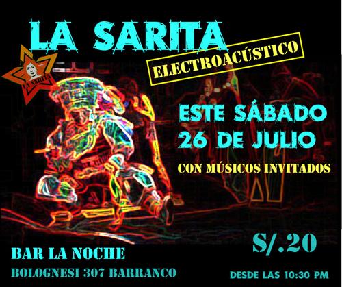 Afiche La Sarita Electro