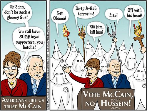 McCain cartoon by Mikhaela