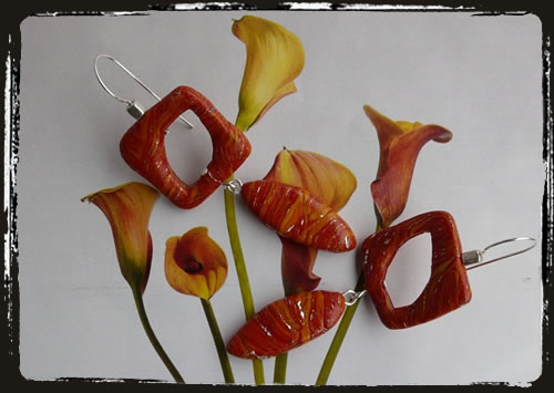 Orecchini arancio - Orange earrings MEHMARA