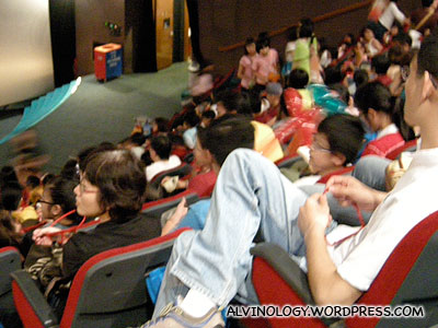 Inside the 3D theatre