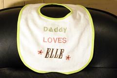 Daddy loves Elle Bib