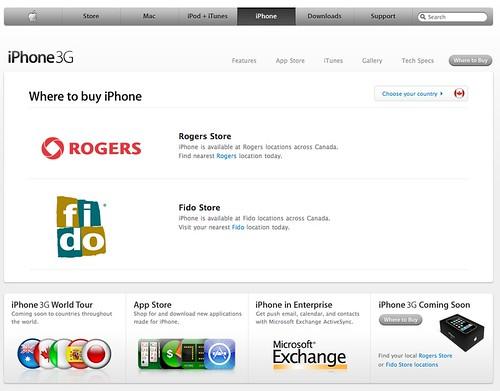 iPhone in Canada