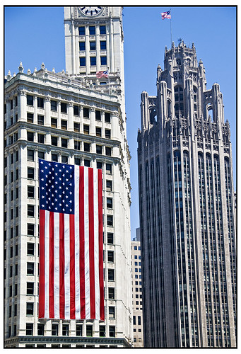 Happy 4th of July -Wrigley, Chicago Tribune tower