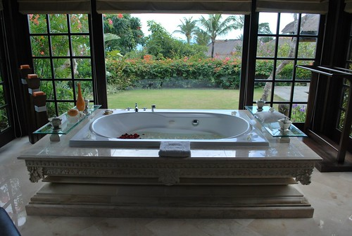 Bathtub View from a One Bedroom Villa