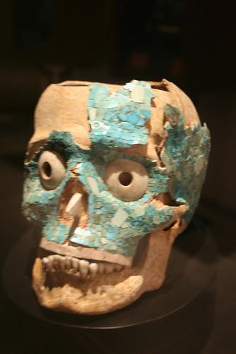 Monte Alban skull from tomb 7