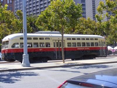 Vintage Birmingham streetcar in San Francisco