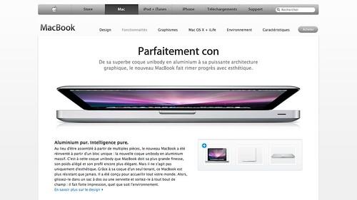 Capture d'écran : MacBook Erreur de trad ?