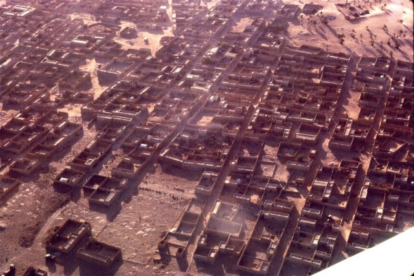 Atar, Mauritania (west Africa), from the air, 1967