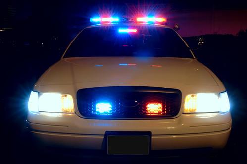 Police Car Lighs by flickr user davidsonscott15