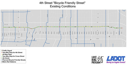 "4th Street ""Bicycle Friendly Street"" Existing Conditions"