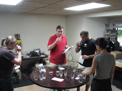 The first cupping of Crop to Cup's container