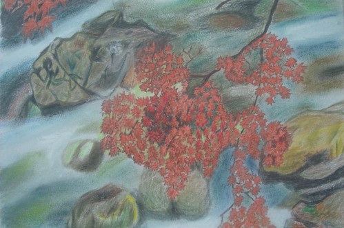 宜靜_潺潺溪水與楓紅