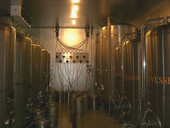 Long shot of Hopworks refrigerated area