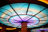 Love how the ceiling changes color in Triton's on the Disney Wonder