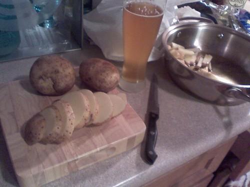 potatoes first cut