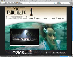 The Fair Trade movie homepage screenshot