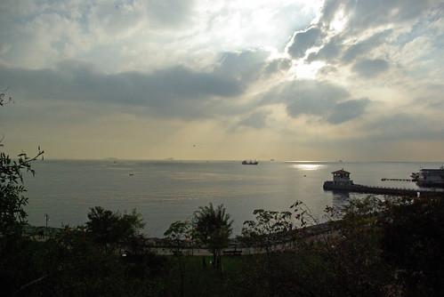 Marmara sea, Moda shore and Moda port, Istanbul, pentax k10d