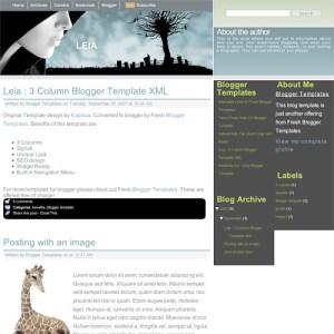 10 template blogger keren gratis - Leia
