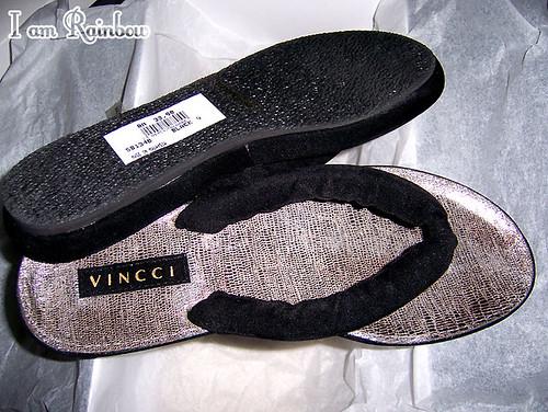 Vincci black velvet sandals