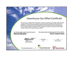 Greenhouse Gas Offset Certificate by Dennis Mueller, on Flickr