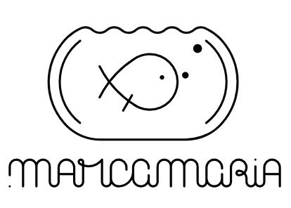 Versão final do símbolo misto da marca .marcamaria (versão monocromático)