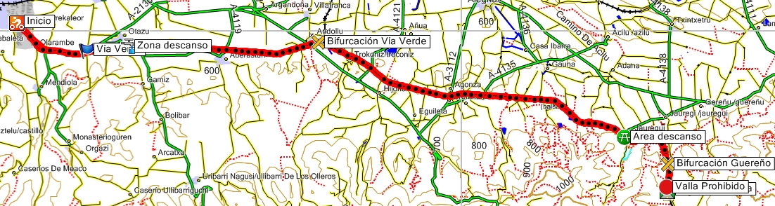 Mapa Via Verde Ferrocarril Vasco Navarro
