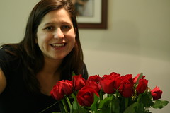 Jenny and her roses.