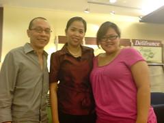 Mr. Tan, me, Nina