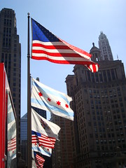 Flags Along Michigan Avenue