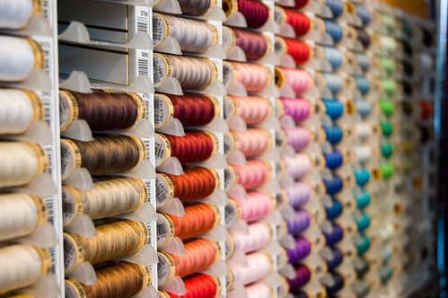 coloury threads! (by bookgrl)