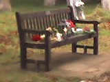 The bench where Melita slept, now a place of rememberence