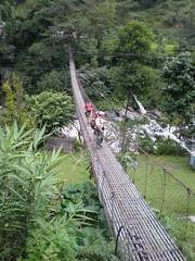 El puente colgante de Bhulbhule