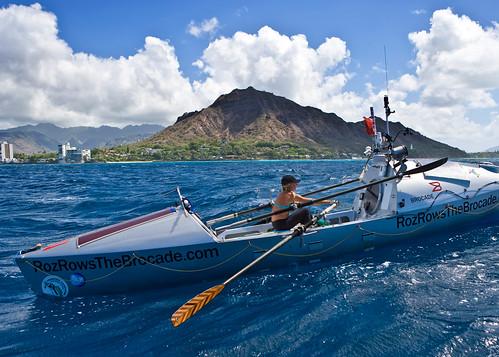 Roz Savage arriving in Hawaii by rozsavage