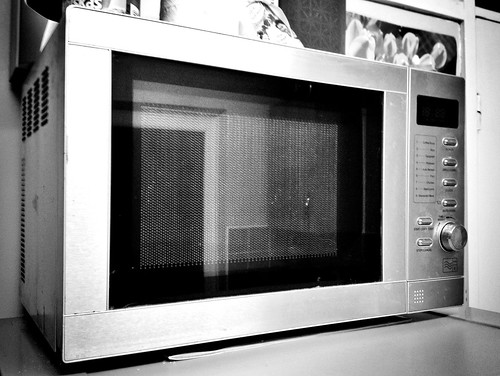 Today is all about...Microwave going to electrical heaven