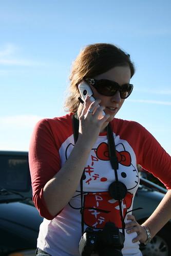Kat sur la telephone