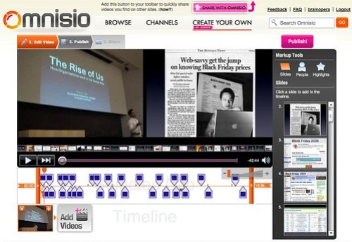 Omnisio: Syncing Video with Presentation Slideshow