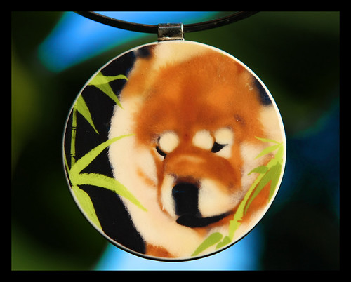 BAMBOO BLISS..series of chow pendants by Sandra Miller