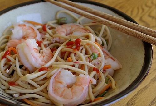 shrimp and noodle salad