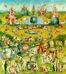 """Hieronymus Bosch, """"El Bosco"""". Tabla central de El Jardin de las Delicias, 1503-1504."""