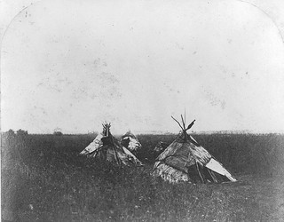 Tents on the prairie, west of the settlement, ...