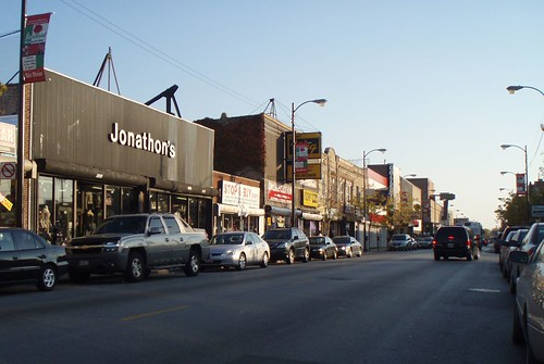 S. Michigan Avenue commercial strip