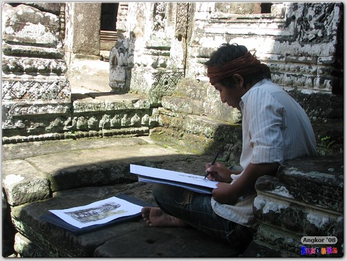 Artist at the Bayon