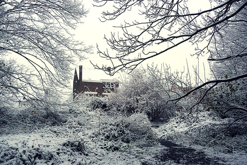 The House in the Snow - Grivegnee. Photo : Gilderic