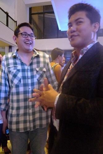 Bam Aquino with Oliver Tolentino