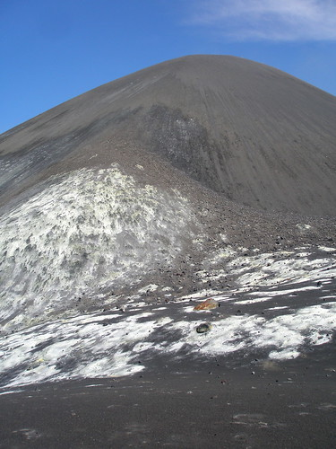 "Anak Krakatau's volcano cone (looking up from ""Level One"")"