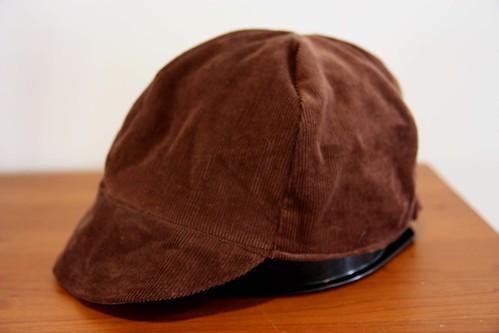 Adult-sized corduroy cap