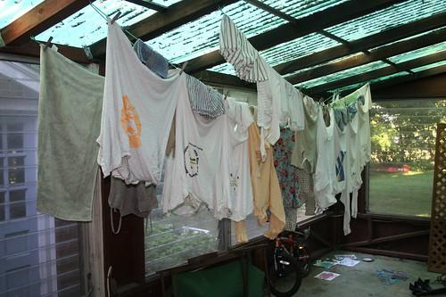 Porch Clothes Line