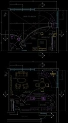 Final plans for Loft Full of Curves, in AutoCAD