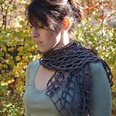 Crocheted Mesh Scarf