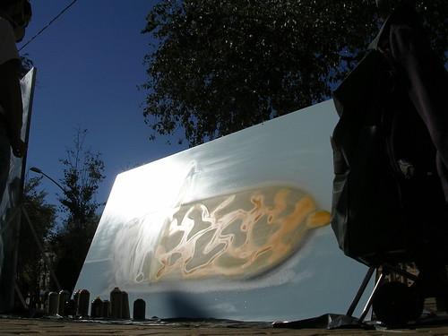 El biberón del fumador. Grafiti 42.